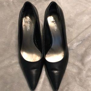 Connie black leather pumps 8.5